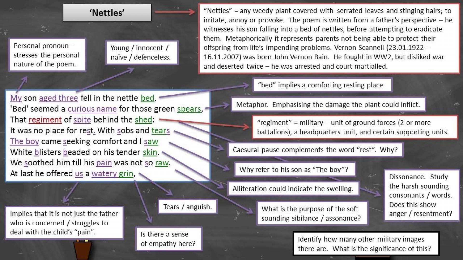 001 Maxresdefault Essay Example Nettles Wonderful Poem Analysis Tall Annotated 1920
