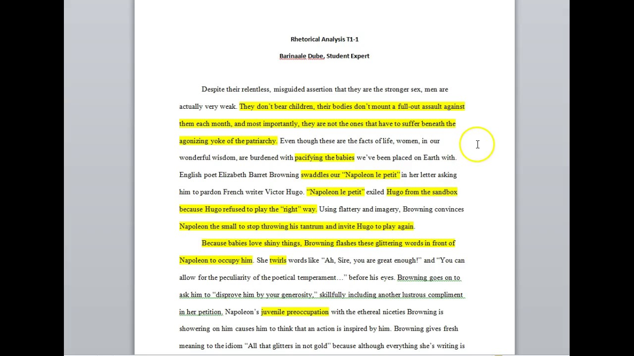 001 Maxresdefault Essay Example Rhetorical Striking Essays Topics Strategies Examples College Question Full