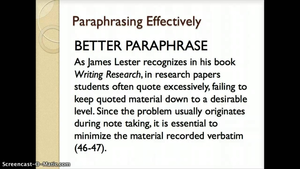 001 Maxresdefault Essay Example What Is Paraphrase In Magnificent A An Large