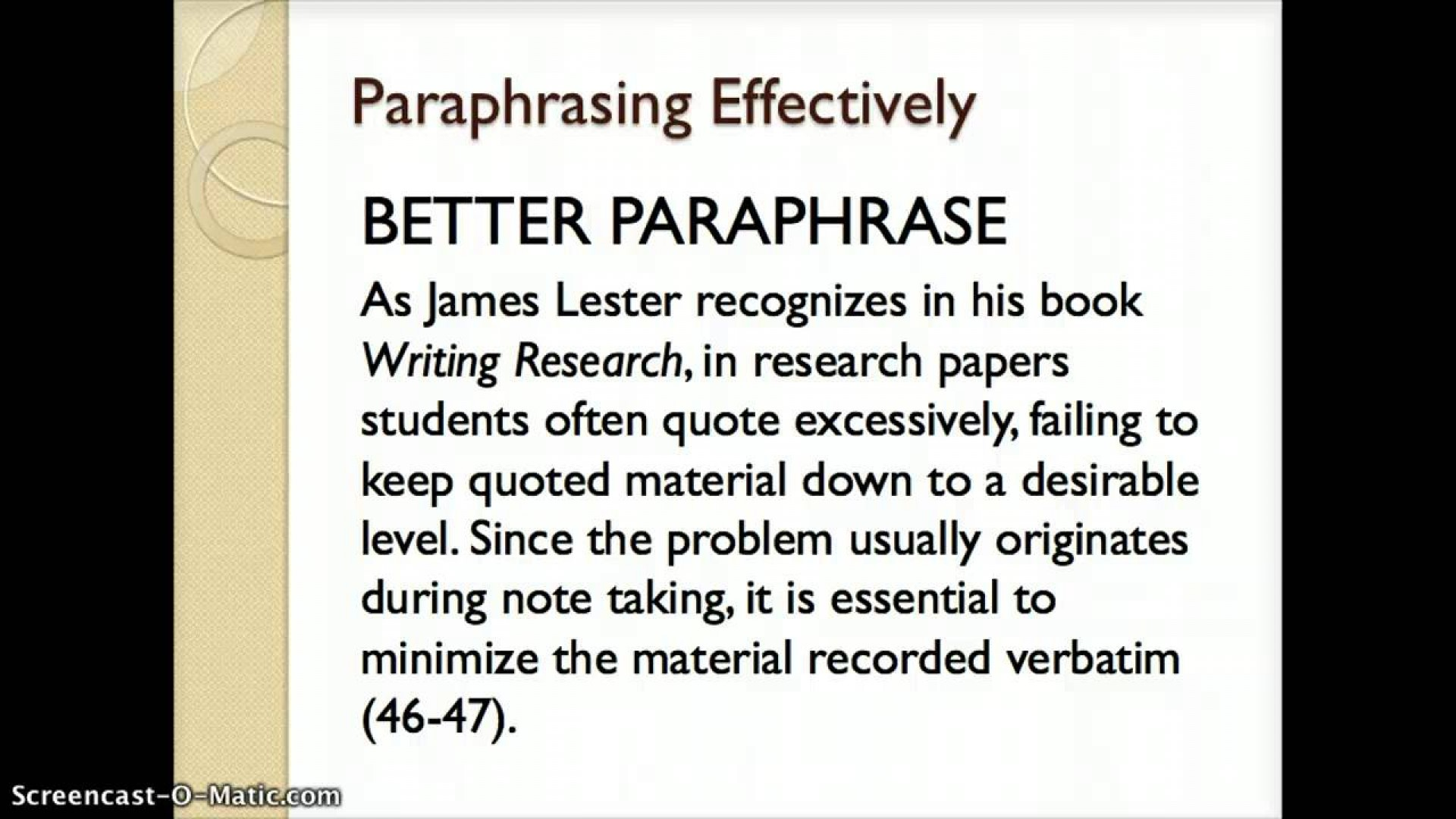 001 Maxresdefault Essay Example What Is Paraphrase In Magnificent A An 1920