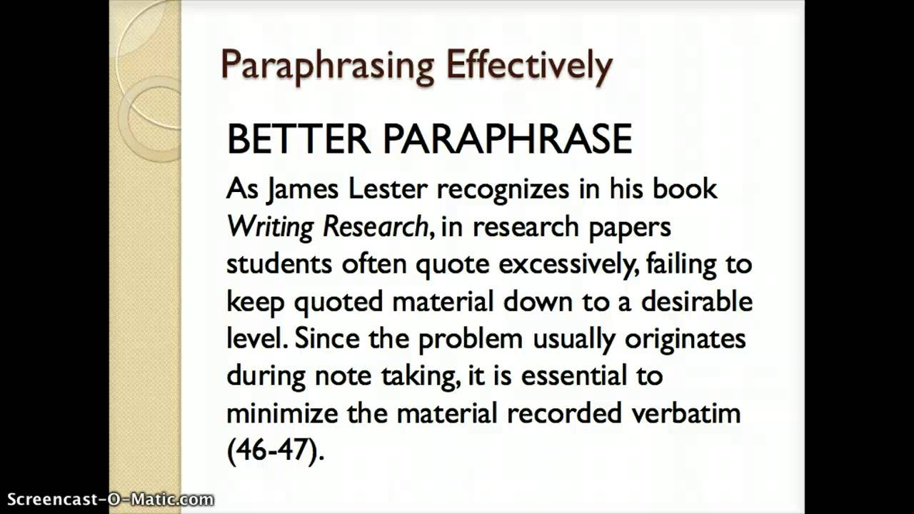 001 Maxresdefault Essay Example What Is Paraphrase In Magnificent A An Full