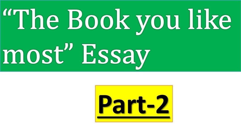 001 Maxresdefault Essay On The Book You Like Most Awful Short Large