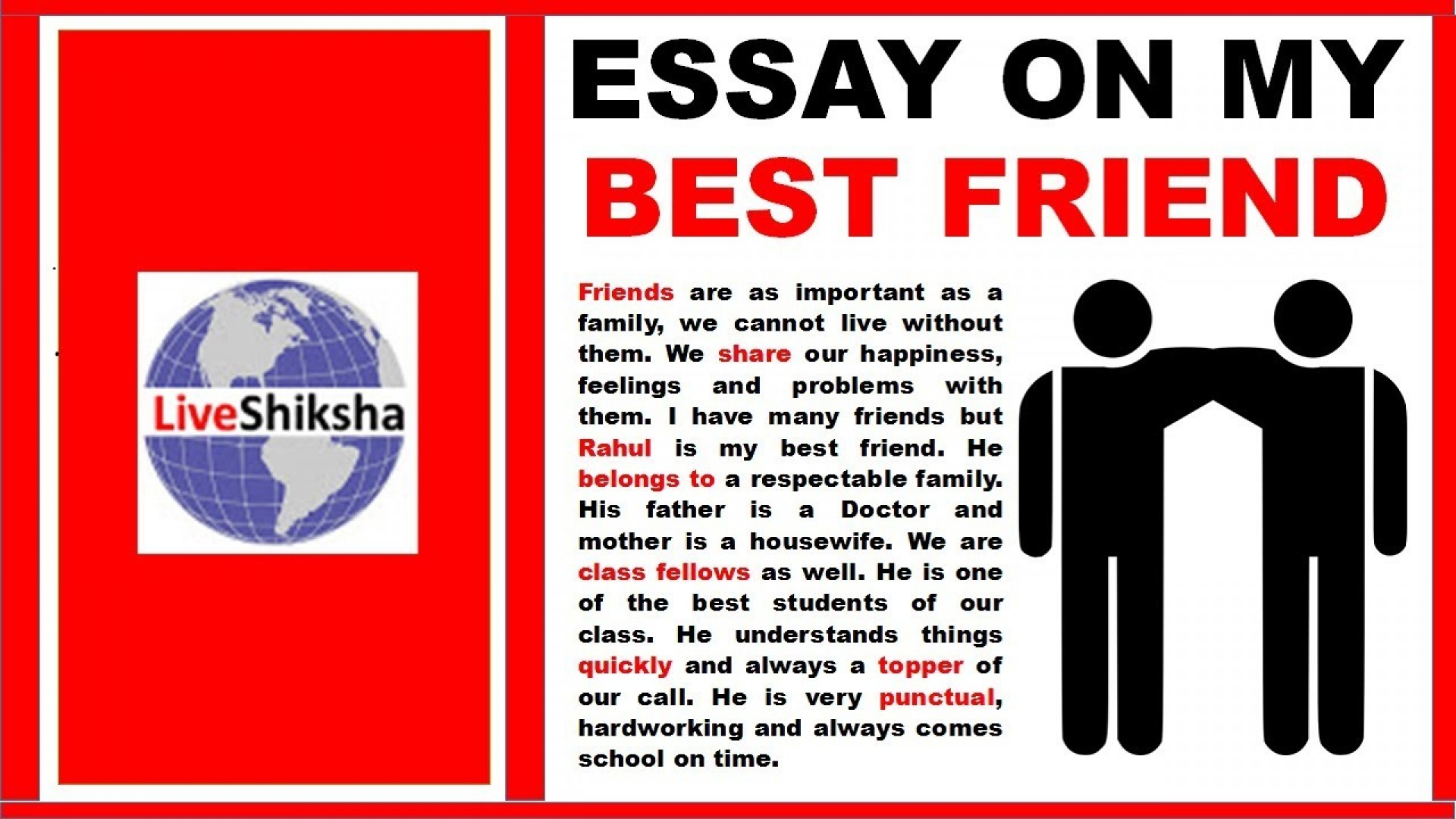 001 Maxresdefault My Best Friend Essay Marvelous For Class 2 In Hindi College Students 1920