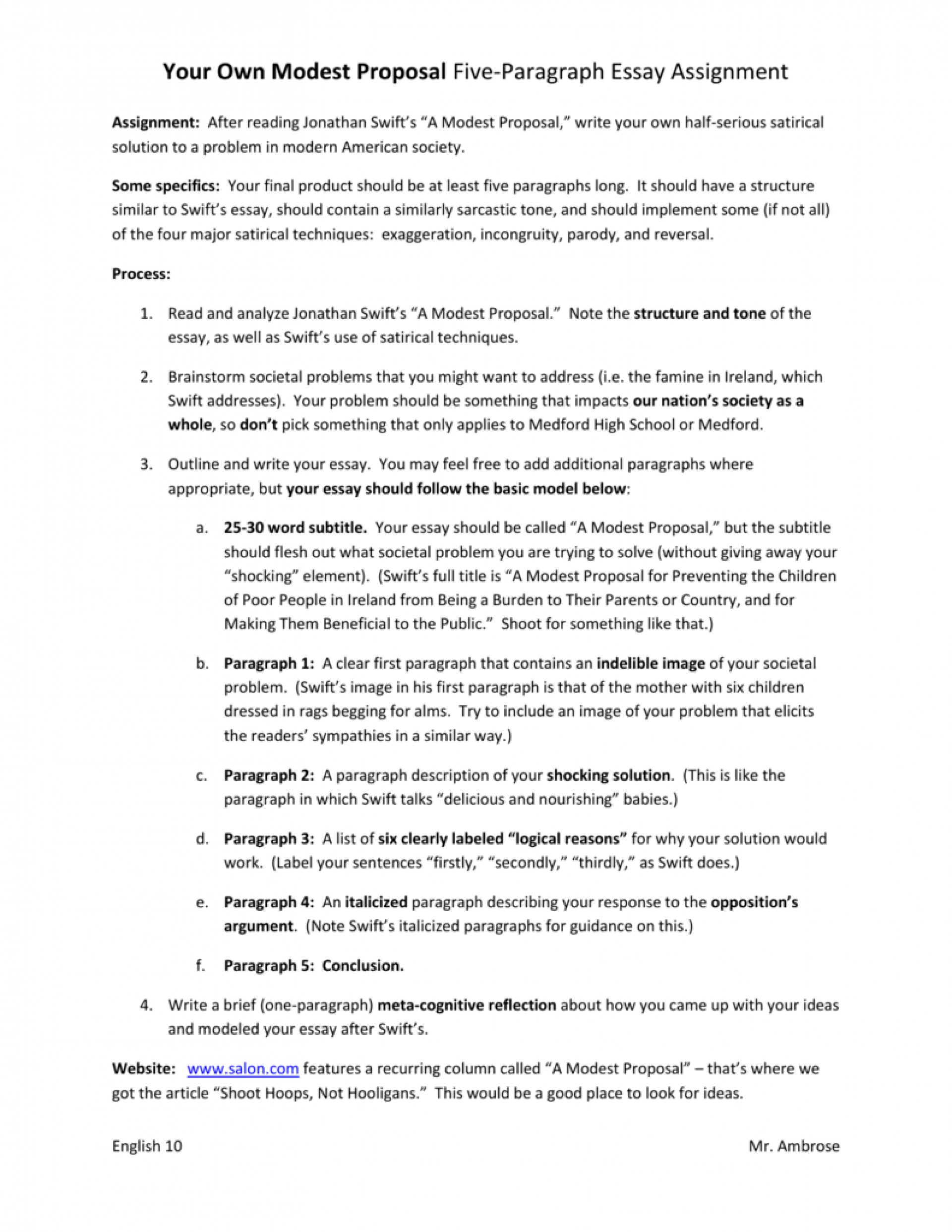 001 Modest Proposal Essay 007326539 1 Astounding A Prompt 50 Essays Questions Example 1920