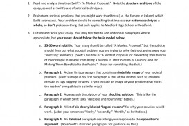 001 Modest Proposal Essay 007326539 1 Astounding A Prompt 50 Essays Questions Example