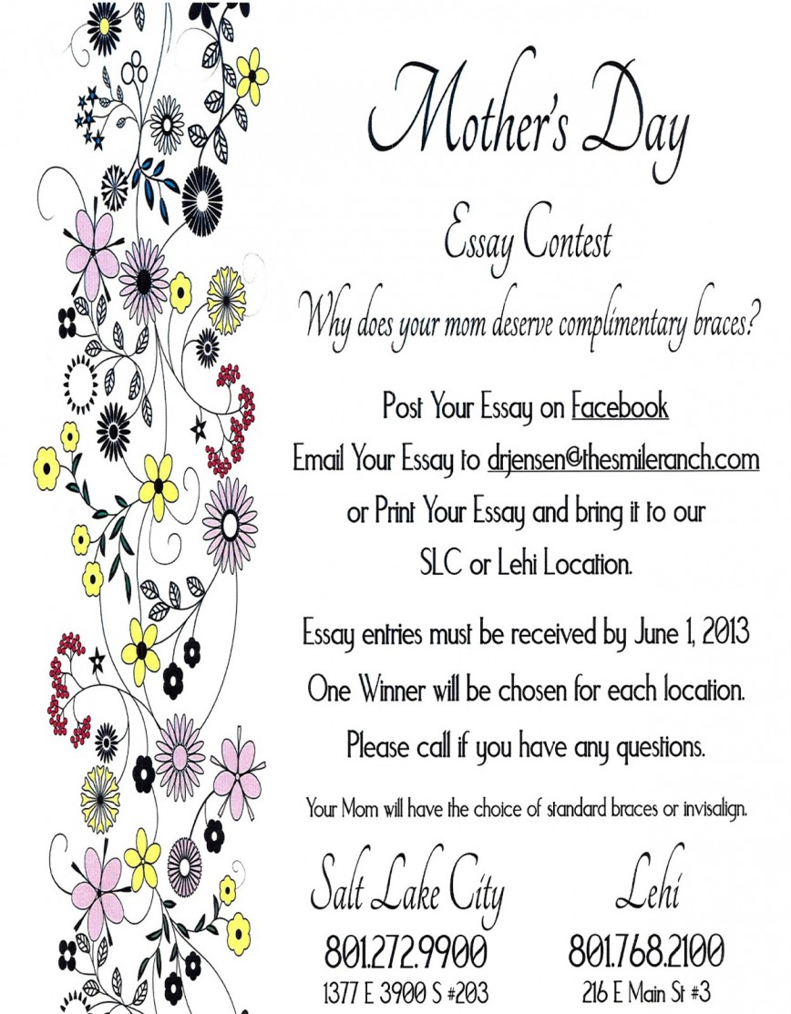 001 Mothersdaycontest Essay Example Mothers Top Day Mother's Writing Contest In Kannada 2018