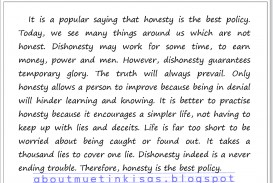 001 Muetkisas Honestyisthebestpolicy Essay Of Honesty Astounding Is The Only Way To Success On Best Policy For Class 8 In Hindi