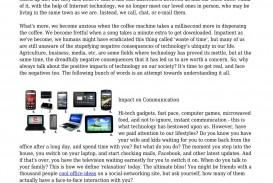 001 Negative Impact Of Technology By Lackinglunatic228 Issuu Internet On Education Essay P Example Unbelievable Effects Short Communication Information