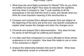001 Night Essay 008045703 1 Excellent Questions Topics Dehumanization Conclusion