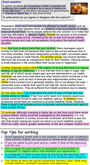 001 Opinion Essay About Fast Food Example An 4 Unbelievable British Council 360