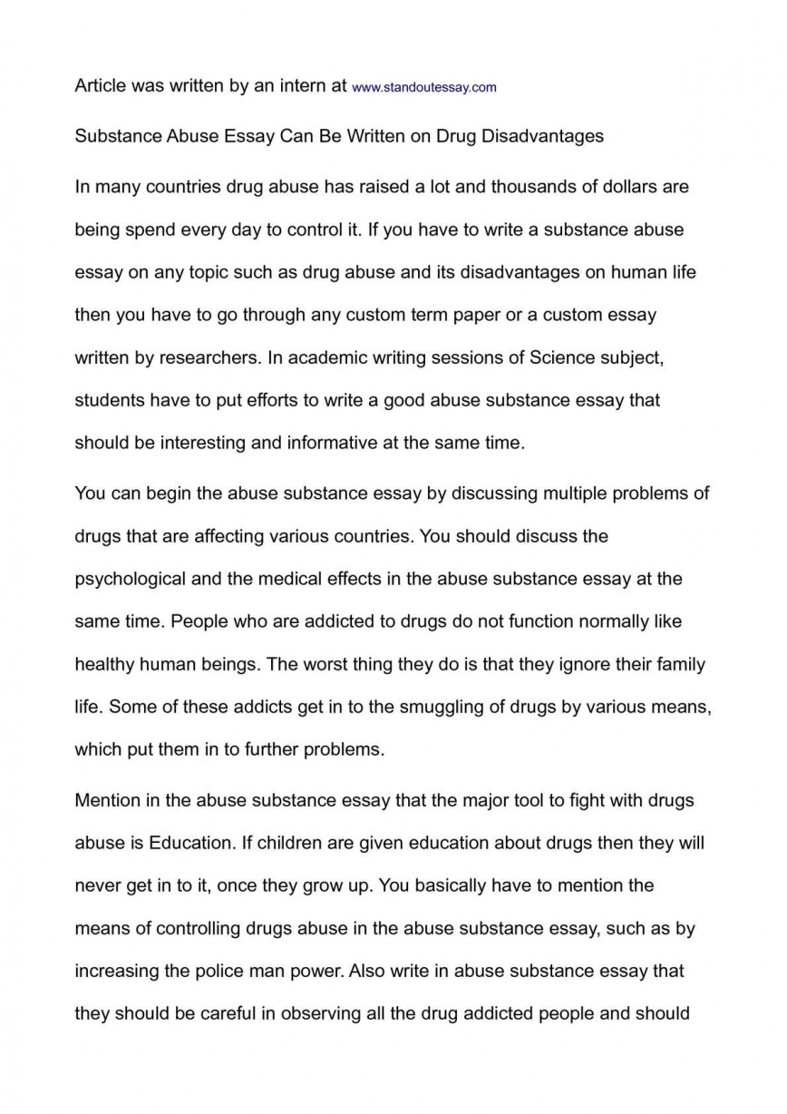 essay about alcohol addiction