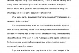 001 P1 Essay Example Frankenstein Staggering Topics Topic Sentence Argumentative