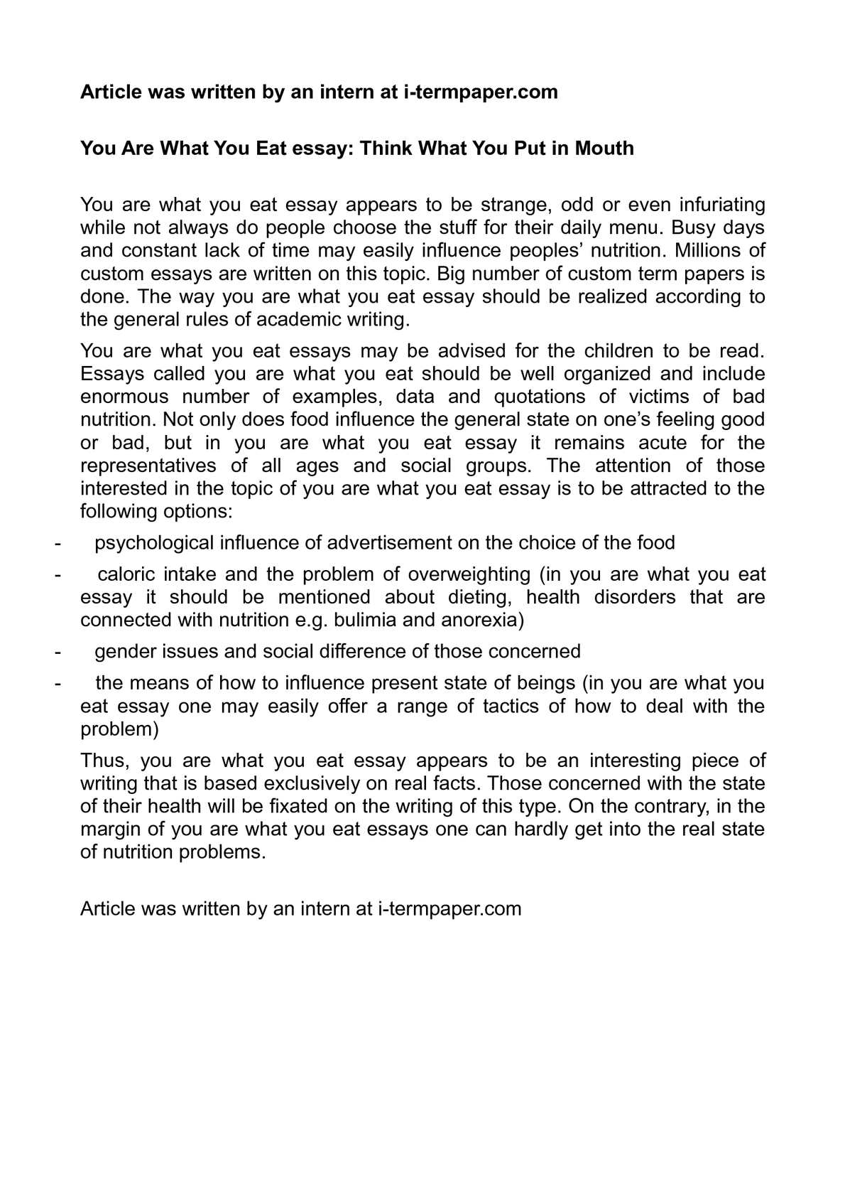 001 P1 Essay Example Importance Of Healthy Astounding Living Full