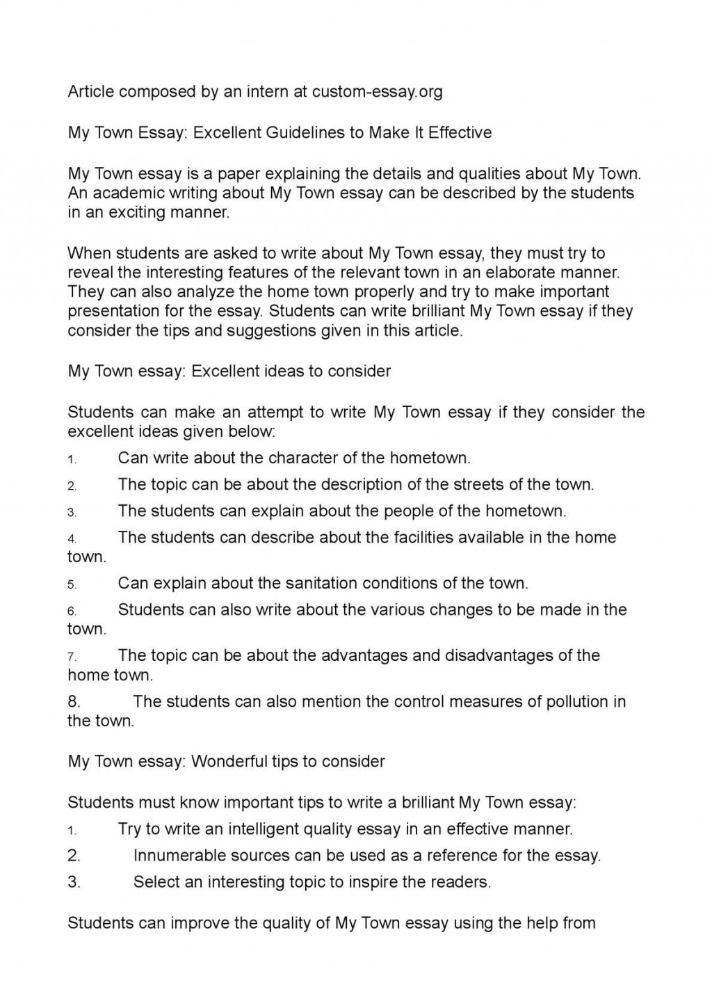 001 P1 Essay Example Of My Staggering Hometown Spm On Delhi Malaysia Large