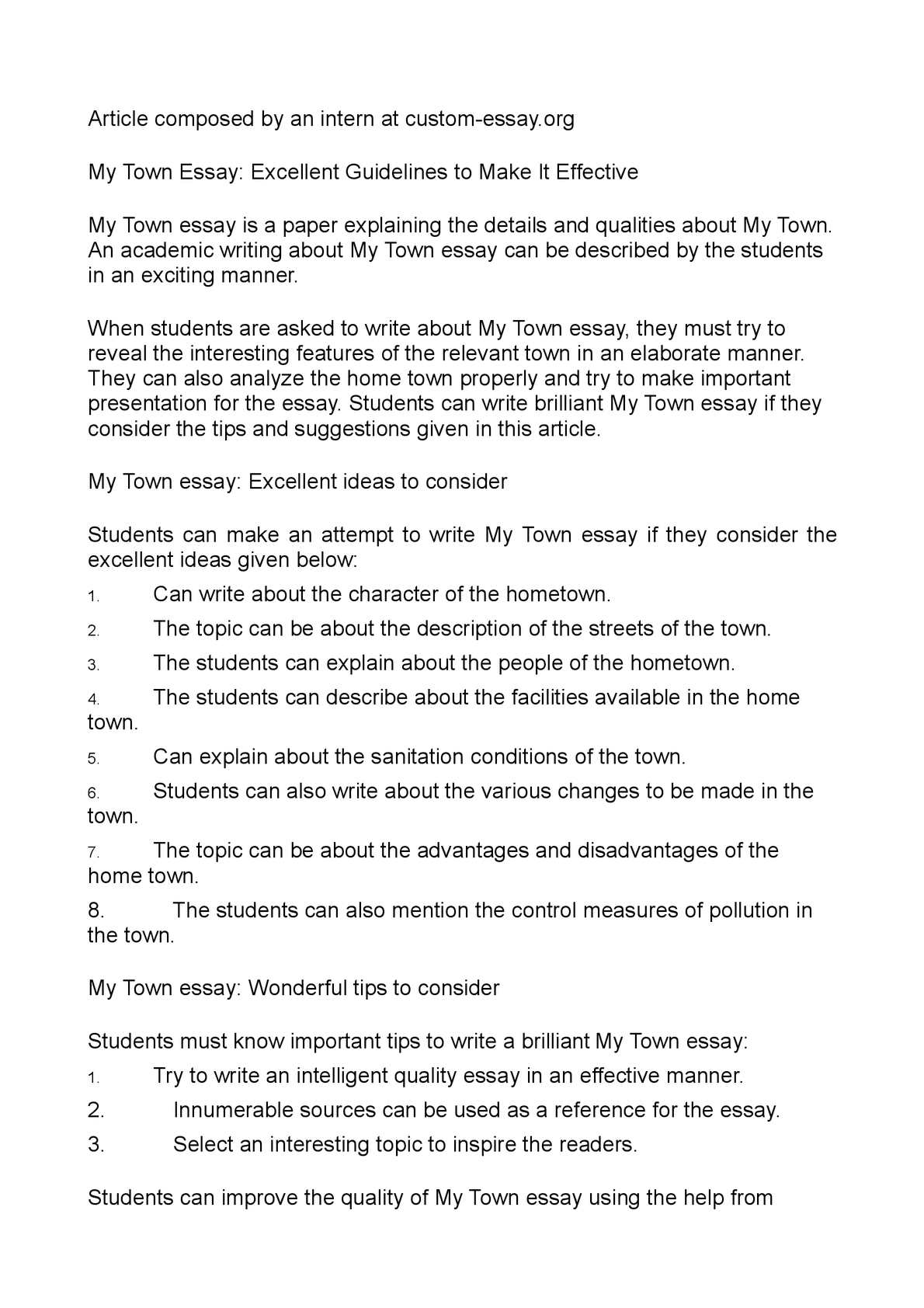 001 P1 Essay Example Of My Staggering Hometown Spm On Delhi Malaysia Full