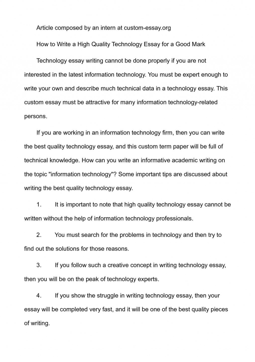 001 P1 Technology Essay Top Science And Questions Florida Institute Of Prompts Large