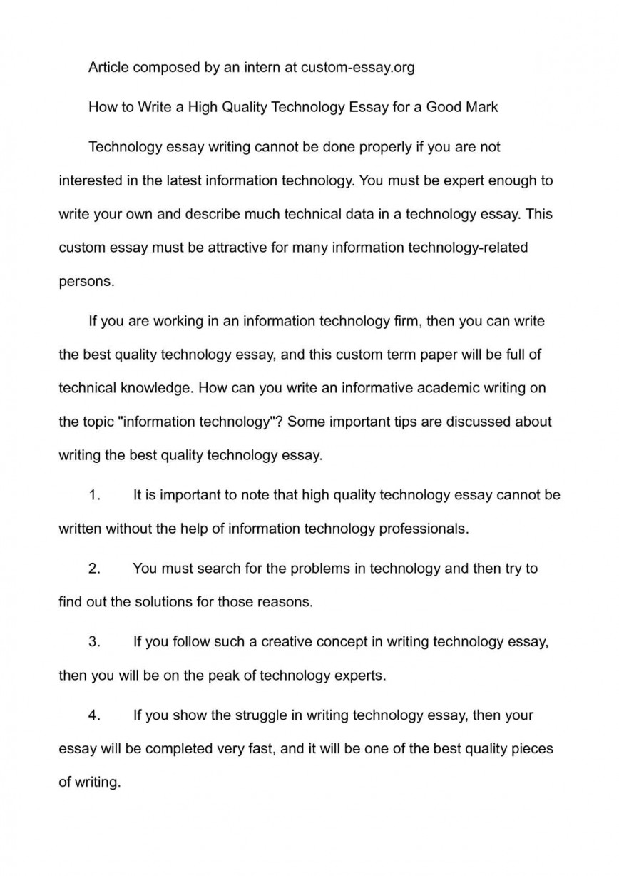 001 P1 Technology Essay Top Rochester Institute Of Prompts Modern Introduction Georgia Questions