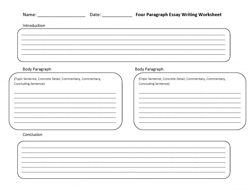 001 Paragraph Essay Four Lines Phenomenal 4 Graphic Organizer Example Template