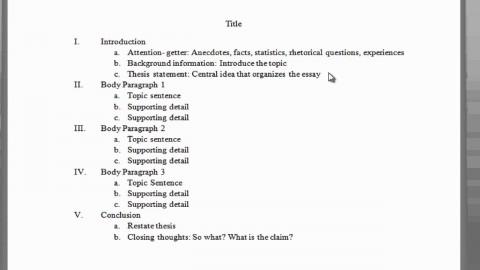 001 Paragraph Essay Outline Example Impressive 5 Five Template Pdf Argumentative 480