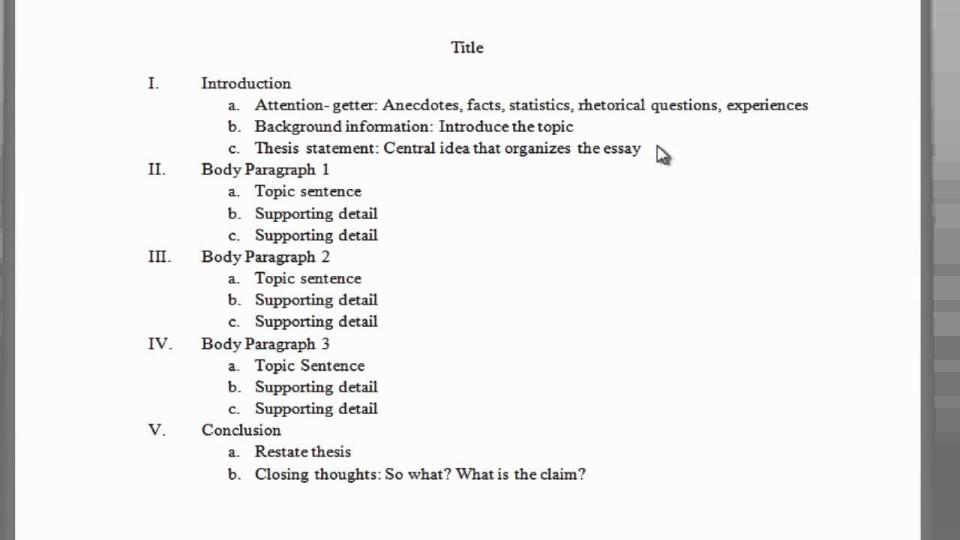 001 Paragraph Essay Outline Example Impressive 5 Five Template Pdf Argumentative 960