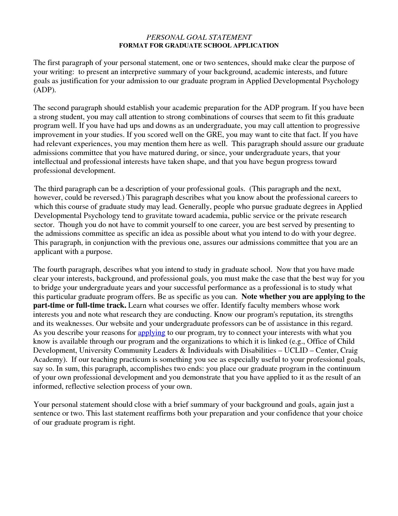 001 Personal Goals Essay Amazing For Graduate School Outline Goal College Full