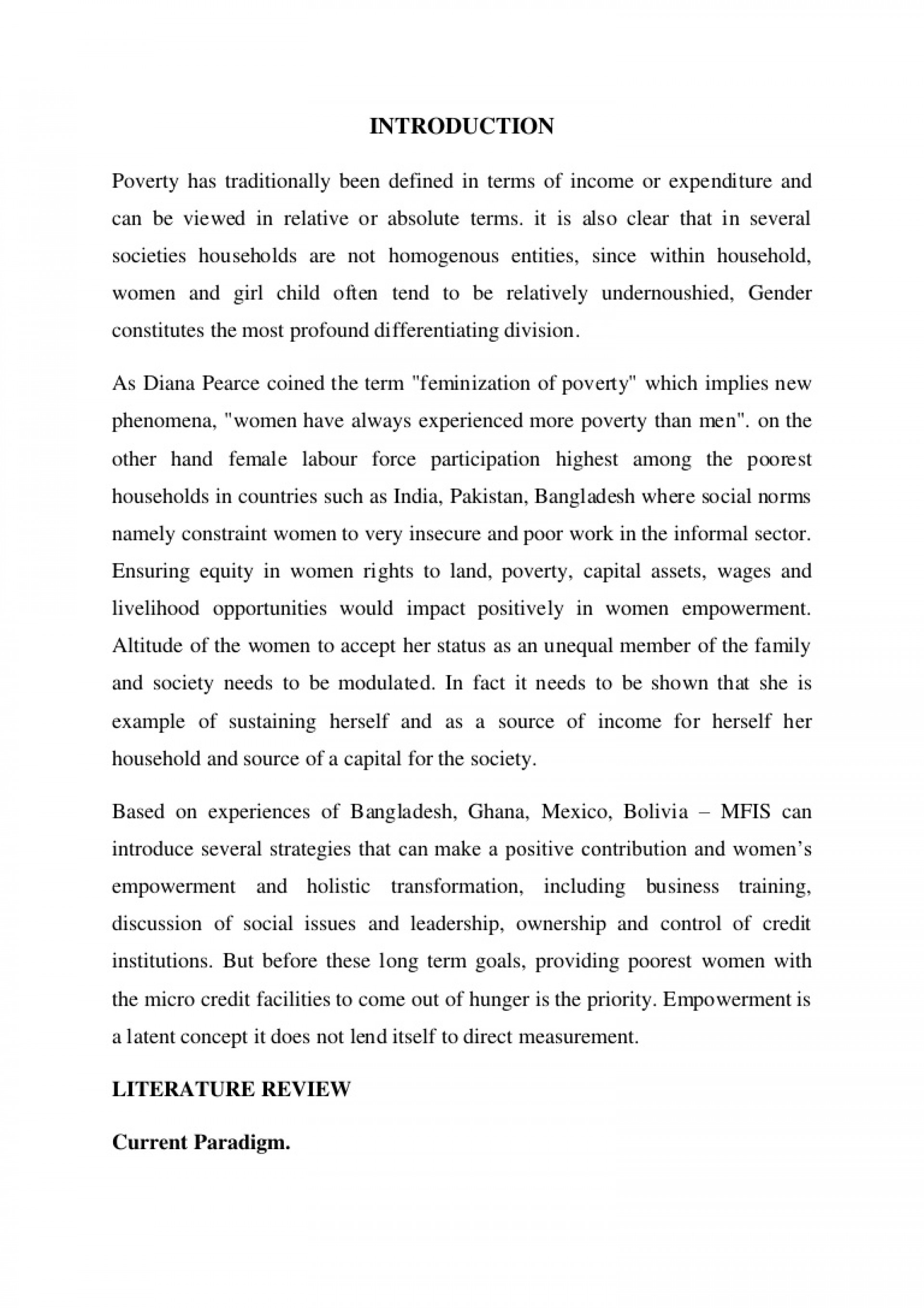 001 Poverty Has Traditionally Been Defined In Terms Of Income Or Expenditure And Can Viewed Relative Absolute Prepared By Naresh Sehdev Phpapp01 Thumbnail Exceptional Women Empowerment Essay Pdf Gender Equality Women's 1920