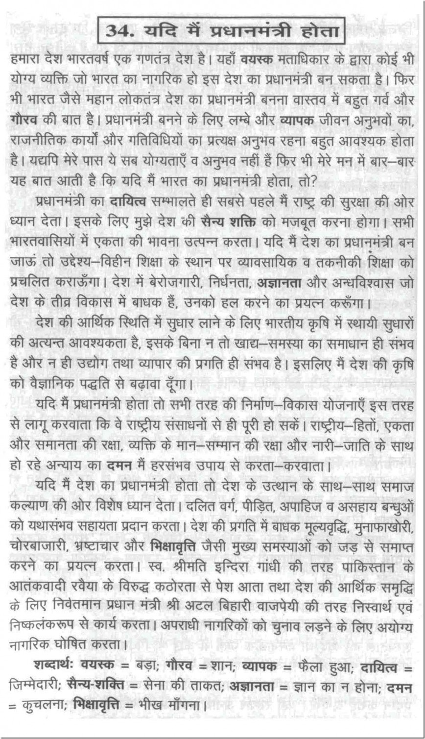 001 Prime Essay Example Imaginative If I Were The Minister In Writing 100034 Writings Outstanding On Narendra Modi Hindi