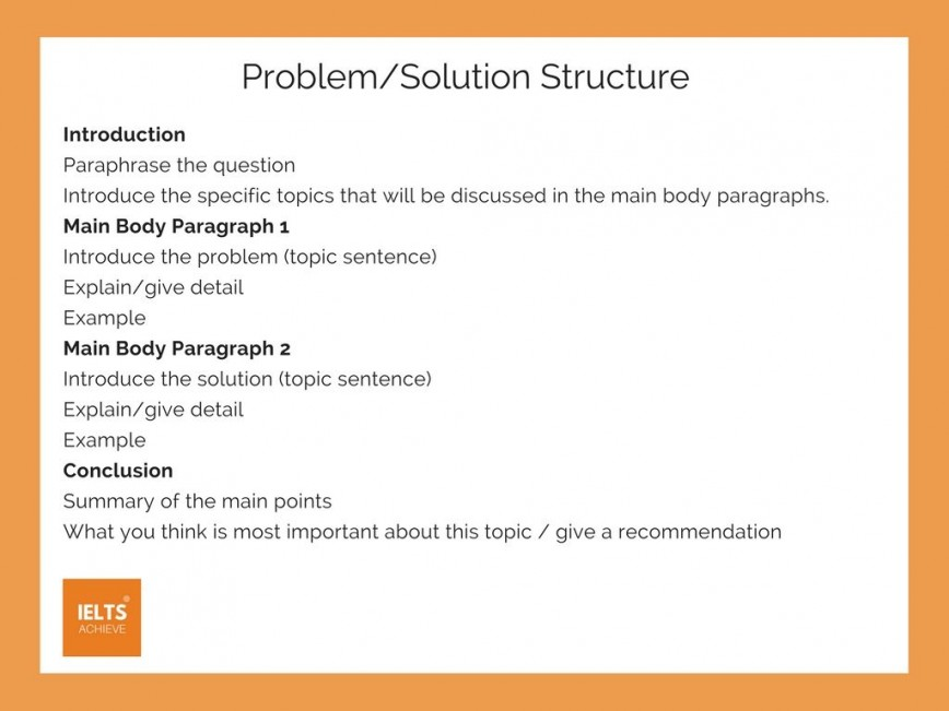 001 Problem Solution Essay Formidable Structure Ielts Grading Rubric Topics High School