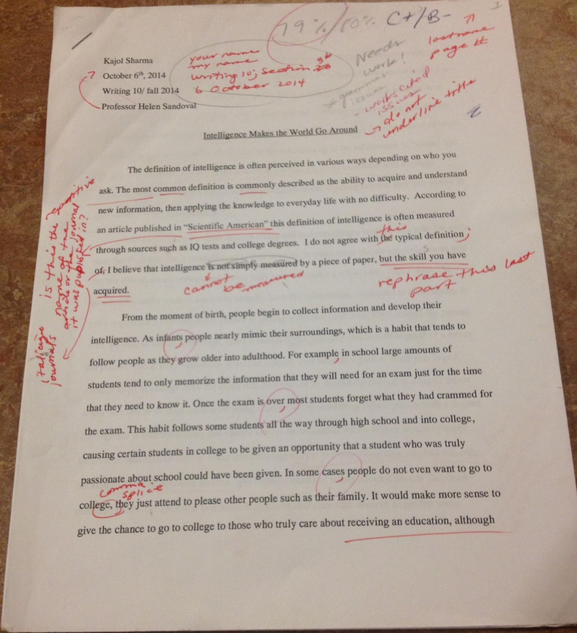 001 Process Ksharma8 Essay Professor Writing Amazing Teaching College On My In French 1920