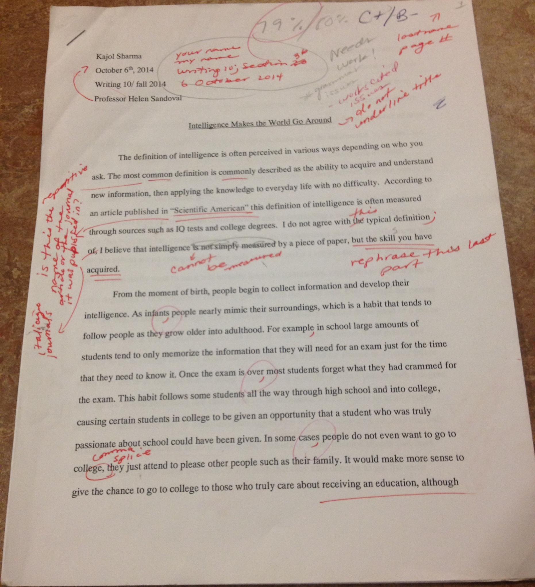 001 Process Ksharma8 Essay Professor Writing Amazing Teaching College On My In French Full