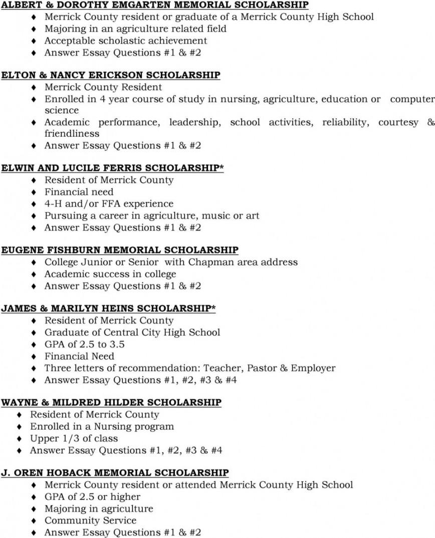 Bill gates scholarship essays