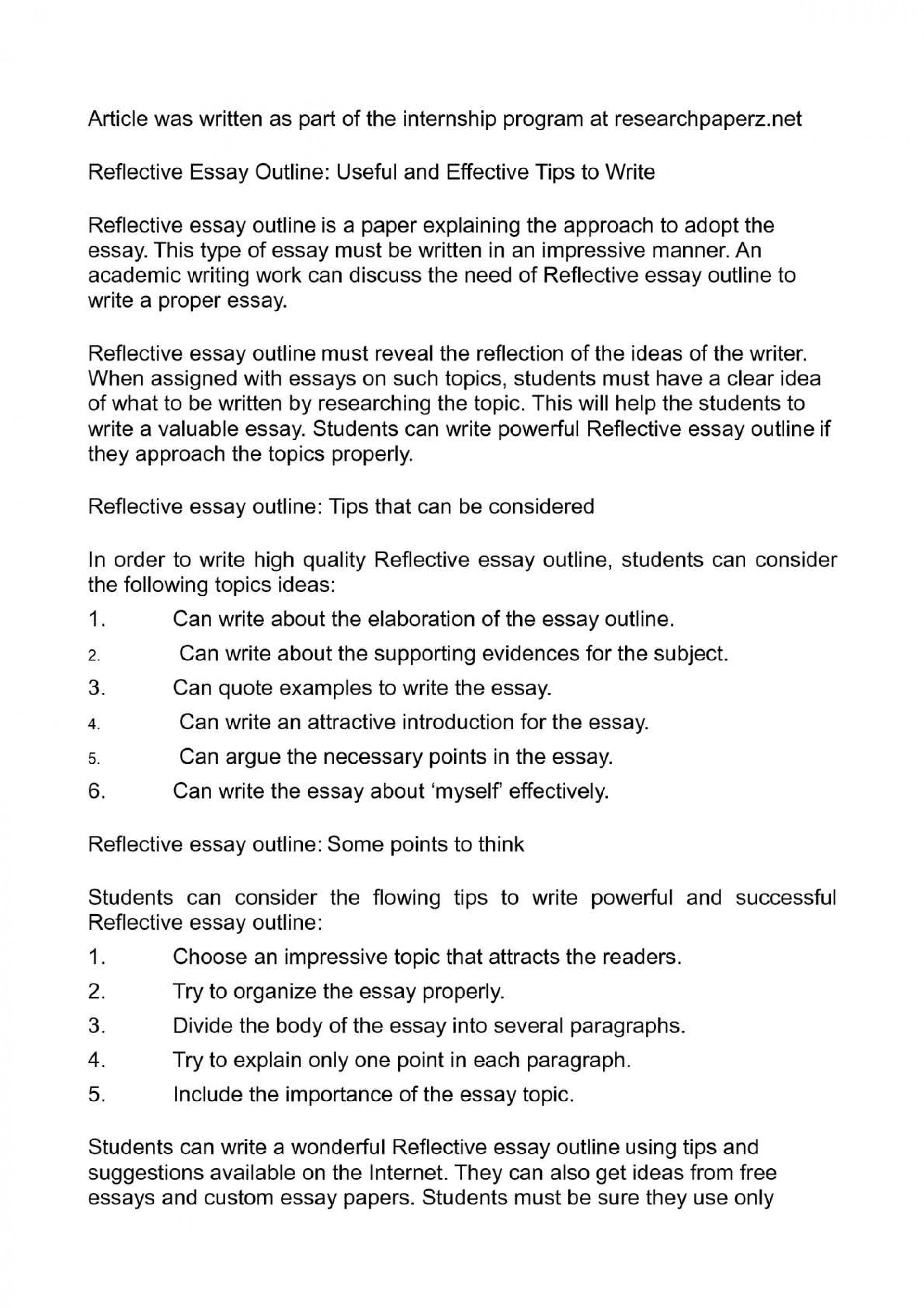 001 Reflective Essay Outline Useful And Effective Tips To Wri On Critical Reading Writing Magnificent Narrative Reflection Paper Layout Course 1920