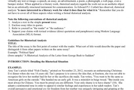 001 Rhetorical Situation Example Essay 007662368 2 Imposing