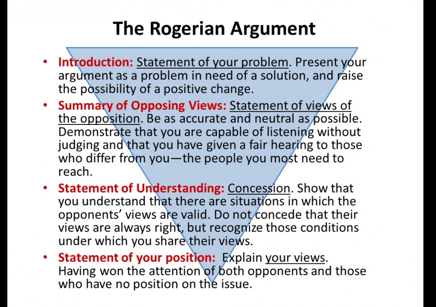 001 Roger1 Rogerian Essay Best Argument Example Sentence Abortion Style Topics 868