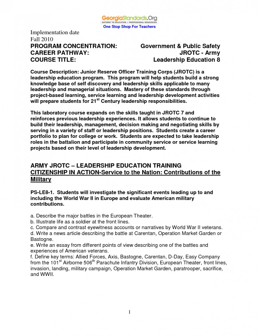 001 Rotc Research Paper Army Leadership Essayes Loyalty College Format On Officer Narrative Basic Training In Hindi Life Day One Page Values Free Accountability Being Time Of Pakistan Singular Essay Prompt Application Questions