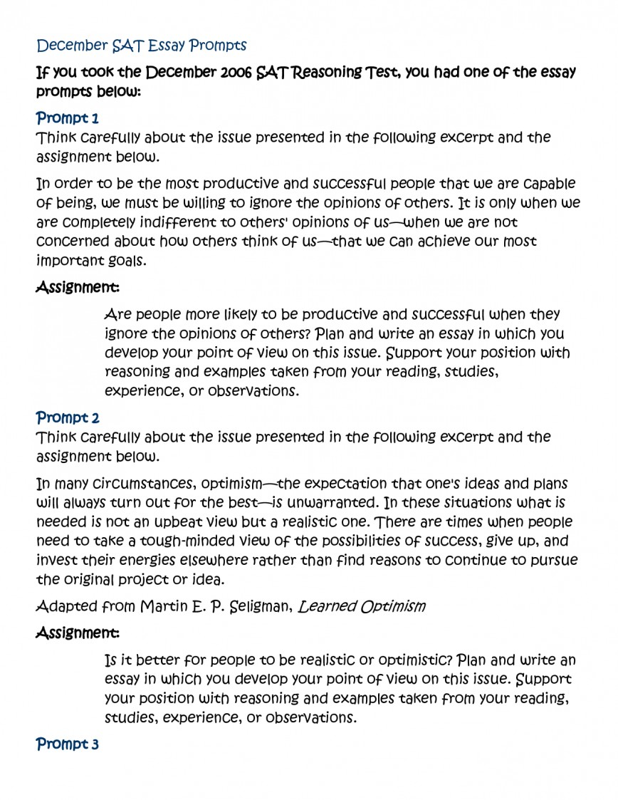 001 Sample Sat Essay Prompts Example Questions The Overview L Unforgettable And Responses New