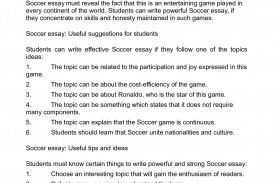 001 Soccer Essay Example Unbelievable Hooks Outline