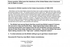 001 Spanish American War Essay 008128870 1 Awful Causes And Effects Topics Questions