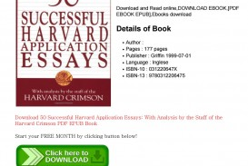 001 Successful Harvard Application Essays Pdf Page 1 Essay Impressive 50 Free 4th Edition Download