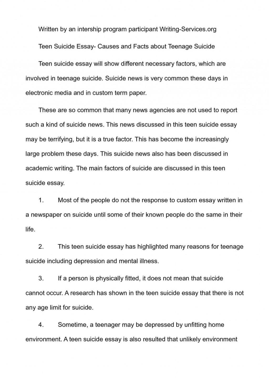 001 Teenage Suicide Essay P1 Beautiful Research Essays Pdf Large