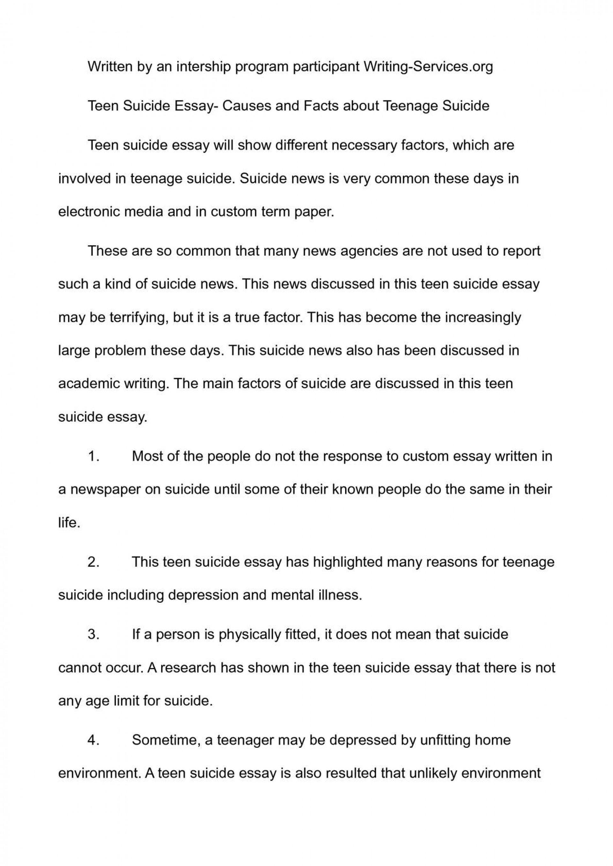 001 Teenage Suicide Essay P1 Beautiful Research Essays Pdf 1920