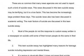 001 Teenage Suicide Essay P1 Beautiful Research Essays Pdf