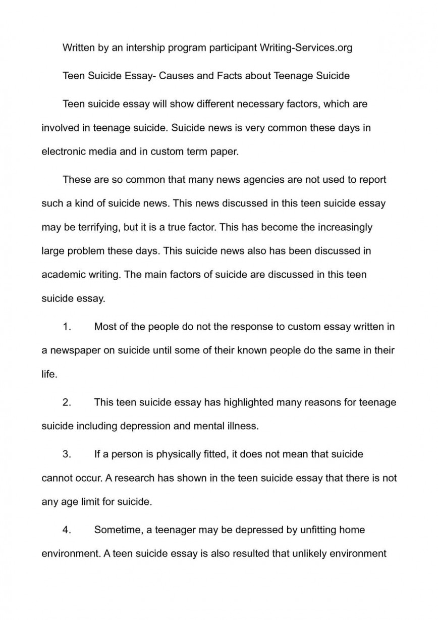 001 Teenage Suicide Essay P1 Beautiful Outline Prevention Essays Causes And Effects Of