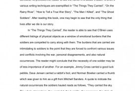 001 The Things They Carried Essay Example 008028277 1 Incredible Prompts Ideas