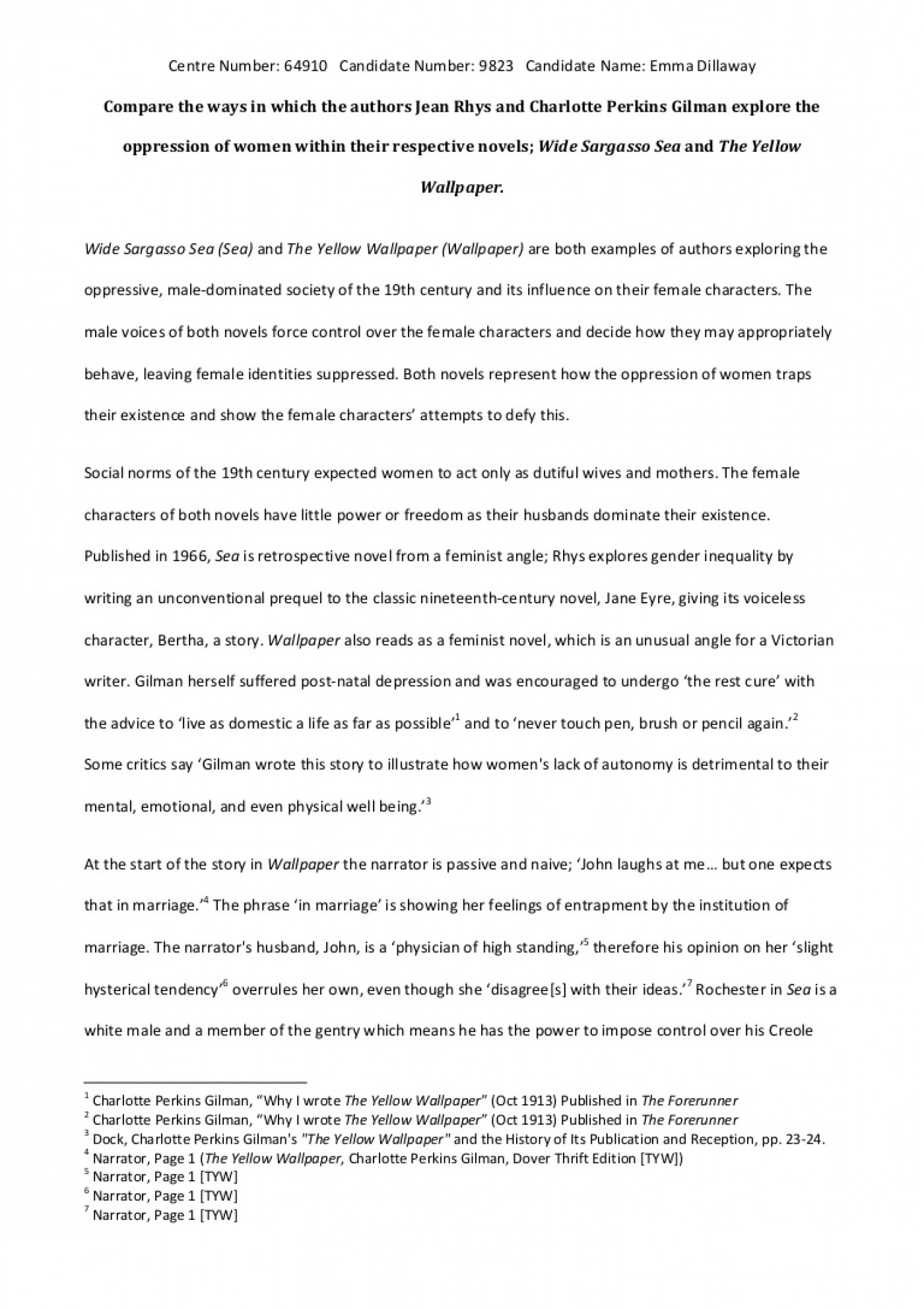 001 The Yellow Wallpaper Essay Phpapp01 Thumbnail 4cbu003d1368715597 Top Feminism Research Paper Outline Conclusion 1400