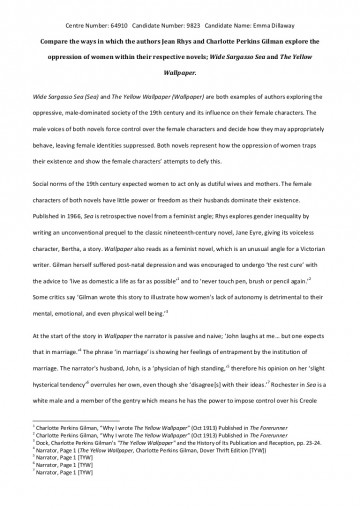 001 The Yellow Wallpaper Essay Phpapp01 Thumbnail 4cbu003d1368715597 Top Feminism Research Paper Outline Conclusion 360
