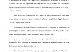001 Theindustrialanddigitalrevolutionessay Phpapp02 Thumbnail Essay Example Revolution Of Exceptional Technology