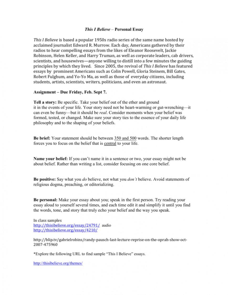 001 Thisibelieve Org Essays Featured 009016648 1 Essay Amazing Thisibelieve.org