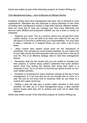 001 Time Management Essay P1 Unforgettable 2000 Words Pdf Importance Of In Hindi 360