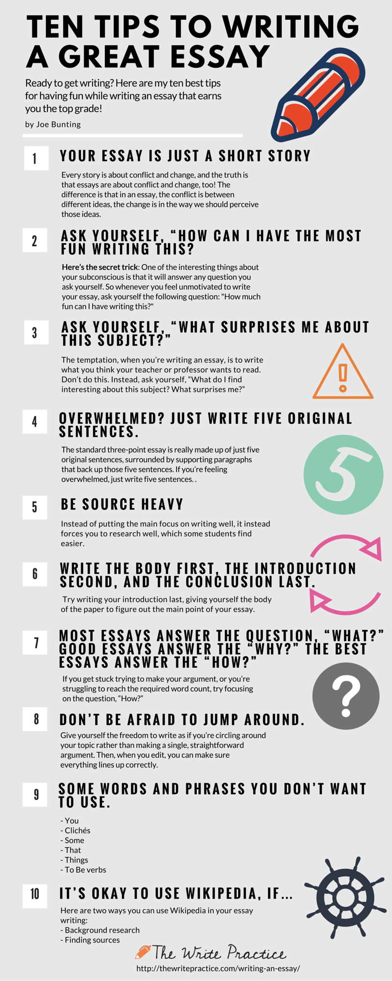001 Tips For Writing An Essay1 Essay Example How To Write Good Surprising Essays A Issue Gre Ap English Full